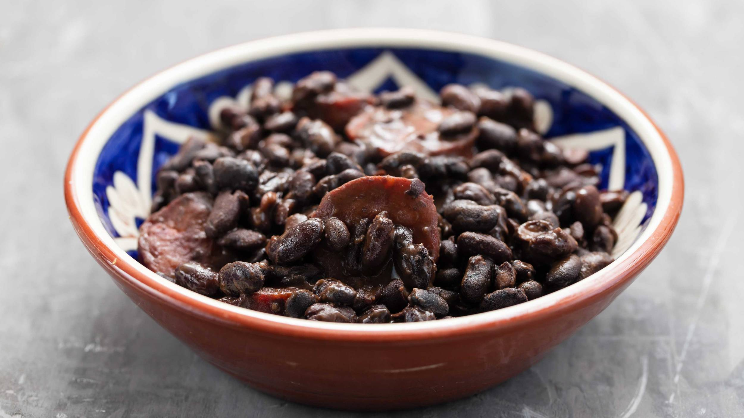 Black beans are great in stews, soups, dips and sales and can be used in burritos or tacos.