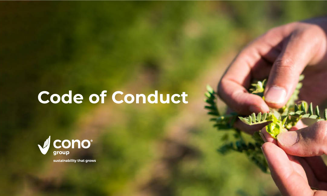 The Code of Conduct is central to Cono's business and underpins everything the company does.